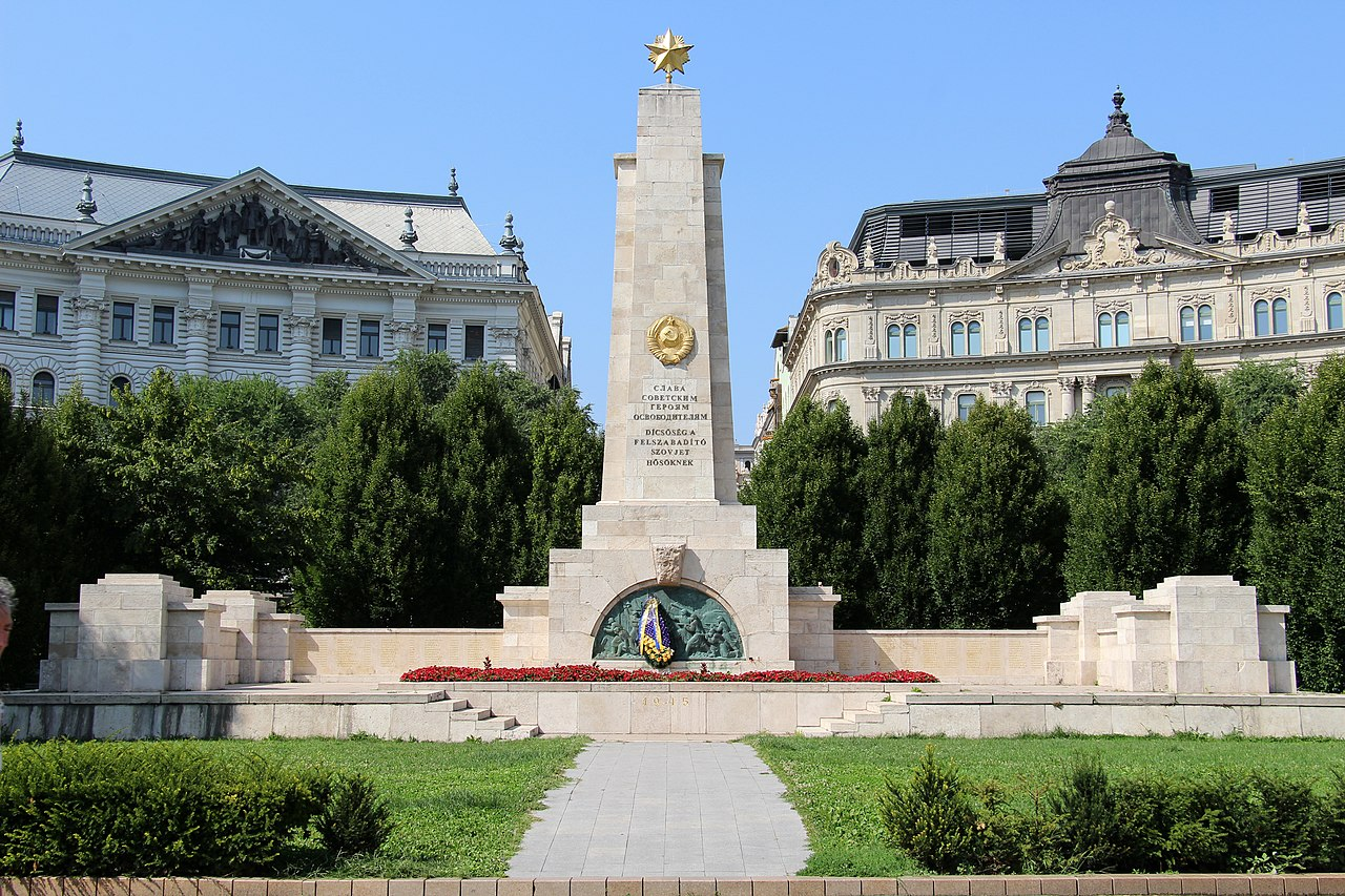 The Monument to the Soviet Red Army at Budapest's Freedom Square