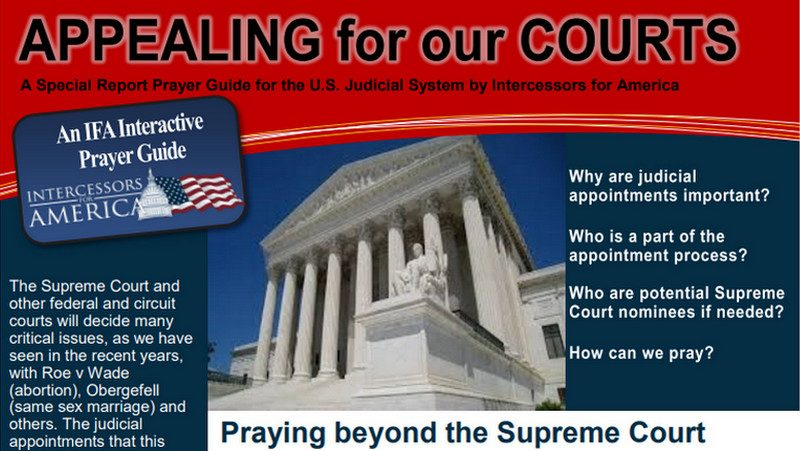 Intercessors For America's Guide To Getting Judges Who 'Fear God