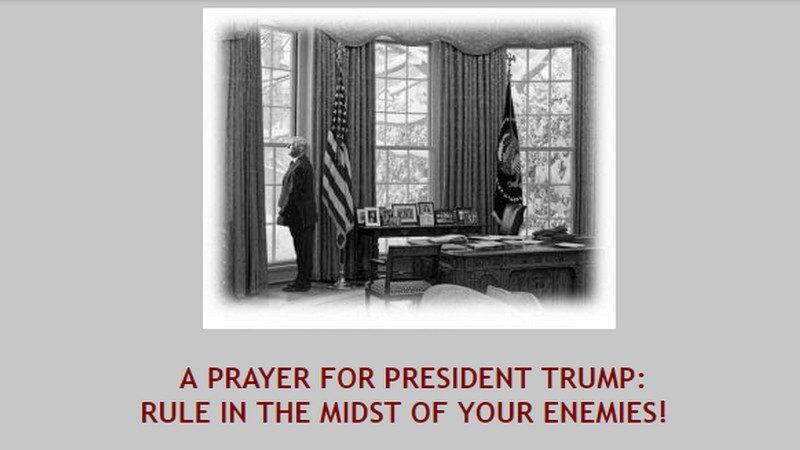 IFA Prays Trump Will 'Rule' In Midst Of His 'Villainous' Enemies