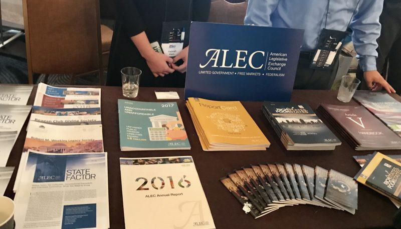ALEC Booth at Road to Majority Conference. (Photo Cred: Malina)