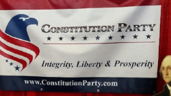The Constitution Party's booth at the 2018 Conservative Political Action Conference.