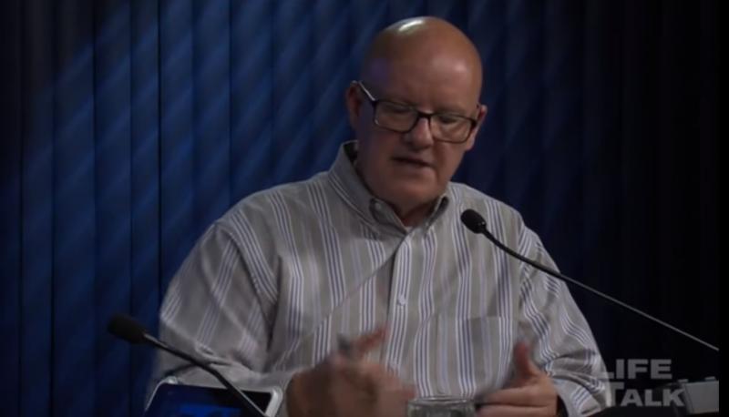 "Mark Crutcher speaks on his ""Life Talk"" program"