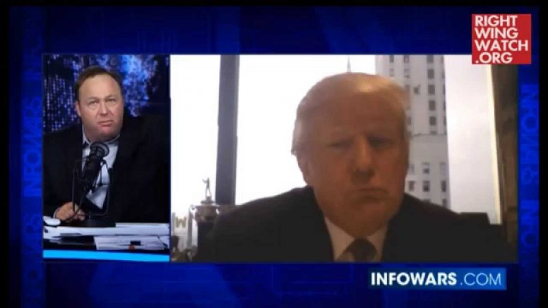 Donald Trump Joins Insane Conspiracy Theorist Alex Jones, Who Calls Him The George Washington Of Today