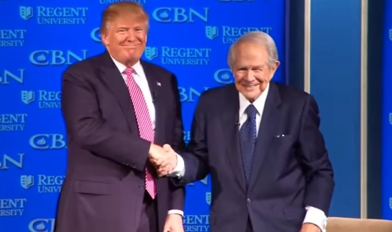 Image result for photo pat robertson with trump