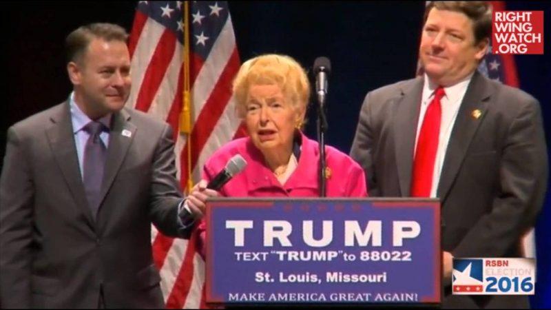Far-Right Leader Phyllis Schlafly Endorses Donald Trump