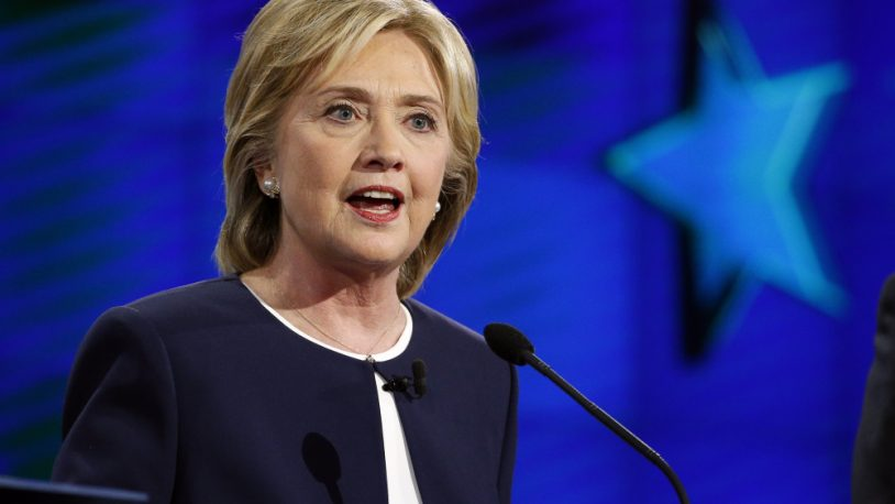 Hillary Rodham Clinton speaks during the CNN Democratic presidential debate Tuesday, Oct. 13, 2015, in Las Vegas. (AP Photo/John Locher) ORG XMIT: NVCC339