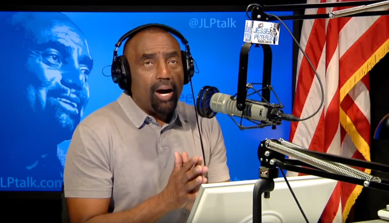 Jesse Lee Peterson on his radio show.