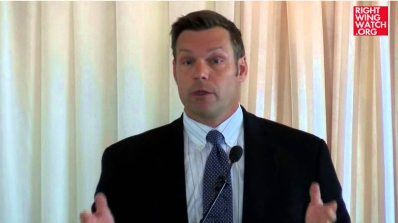 Kris Kobach: If People Have Trouble Registering To Vote, It's Their Own Fault