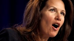 Rep. Michele Bachmann, R-Minn., speaks to the Values Voter Summit, held by the Family Research Council Action, Friday, Sept. 17, 2010, in Washington. (AP Photo/Jacquelyn Martin)