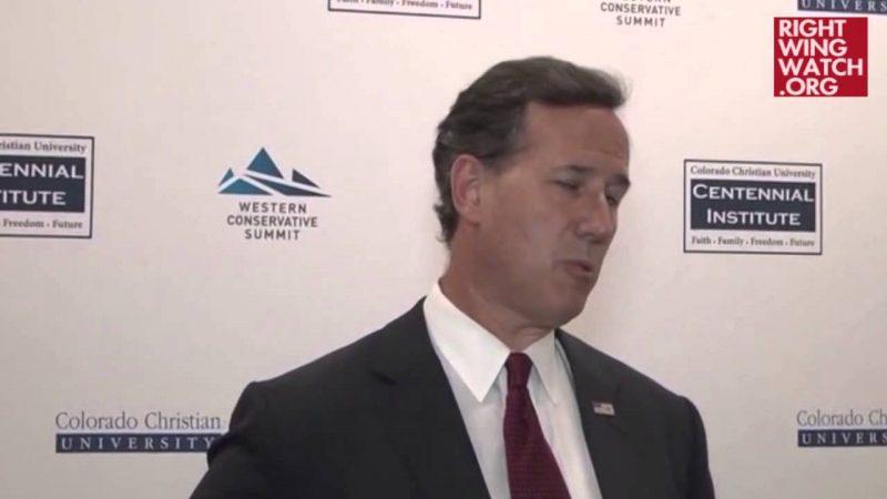 Rick Santorum and gay marriage?