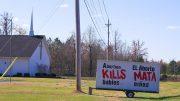 abortion kills babies sign