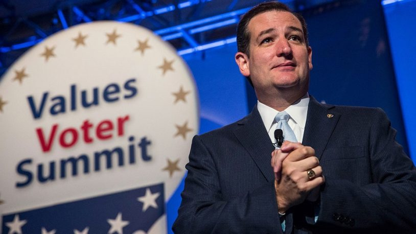 Senator Ted Cruz (R-TX), speaks at the 2013 Values Voter Summit, held by the Family Research Council, on October 11, 2013 in Washington, DC