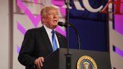 President Donald Trump speaks to the 2017 Values Voter Summit in Washington, D.C.